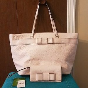 Kate Spade pale pink leather purse & wallet